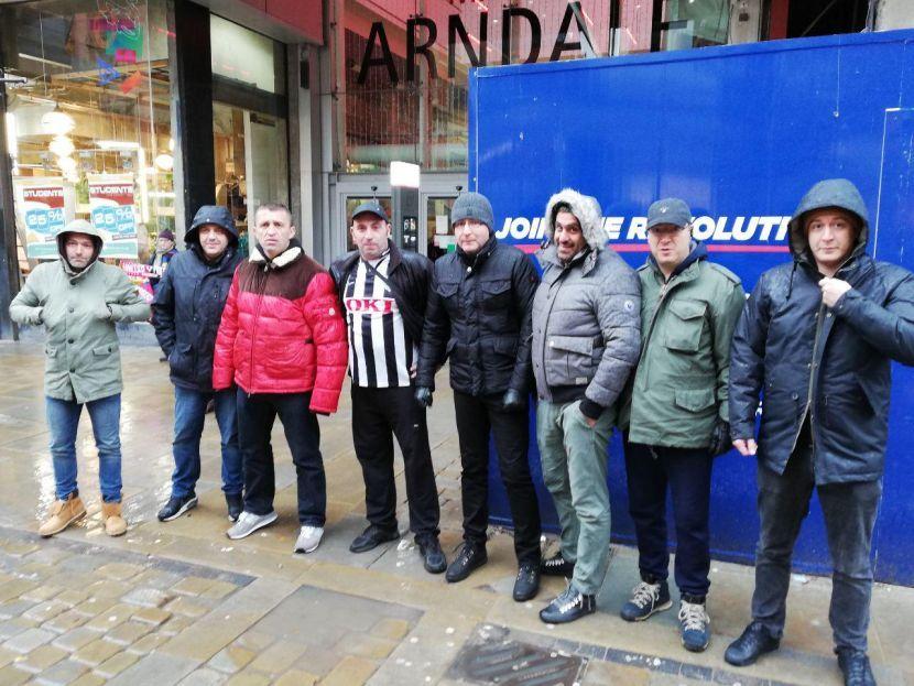 navijači Partizana u mančesteru