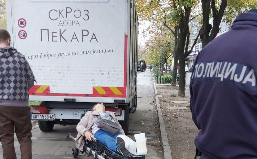 Kamion udario ženu, Novi Beograd