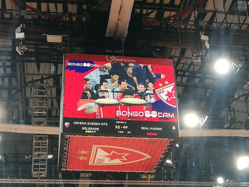 Kiss kamere na utakmici Zvezde