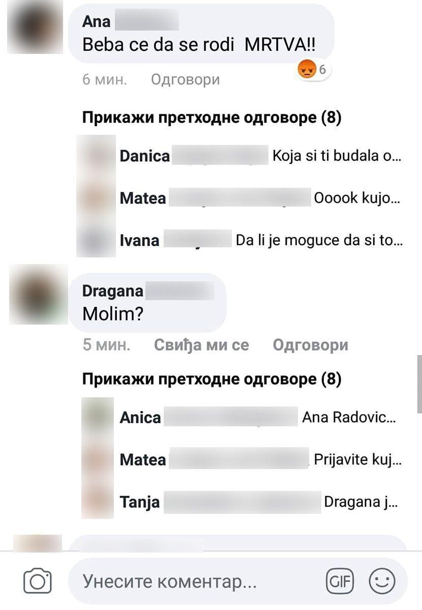 Pretnje smrću, Nađa Petrović, Dragana Petrović