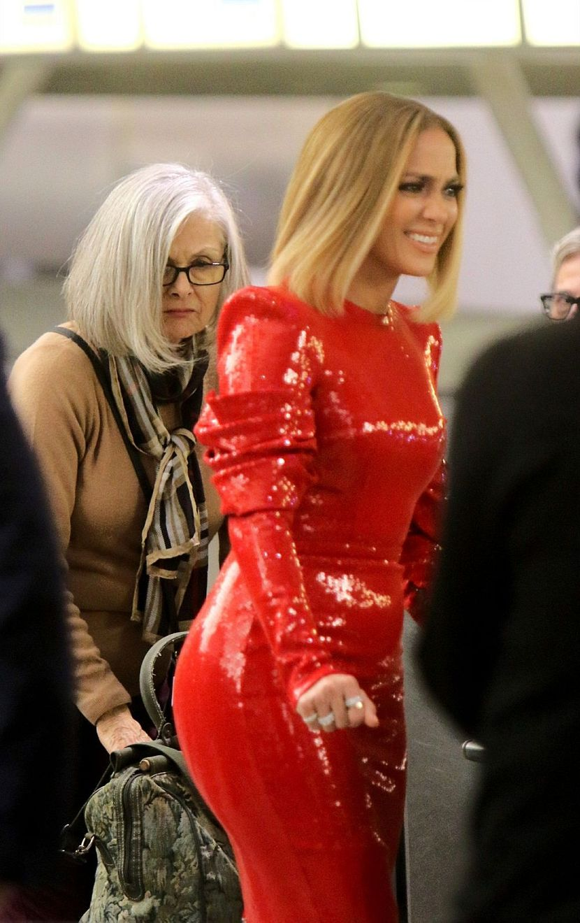 Dženifer Lopez, haljina na snimanju filma. JFK aerodrom