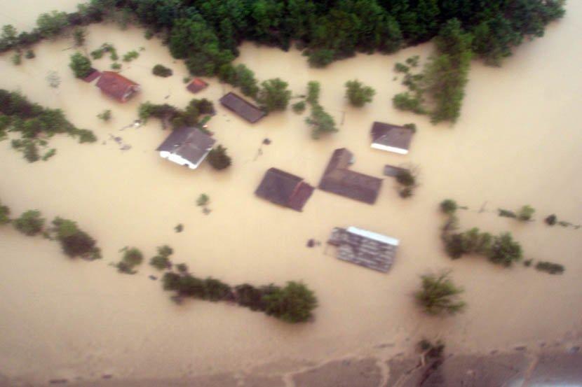 Obrenovac iz vazduha, poplava, nevreme, kiša, poplave u Srbiji