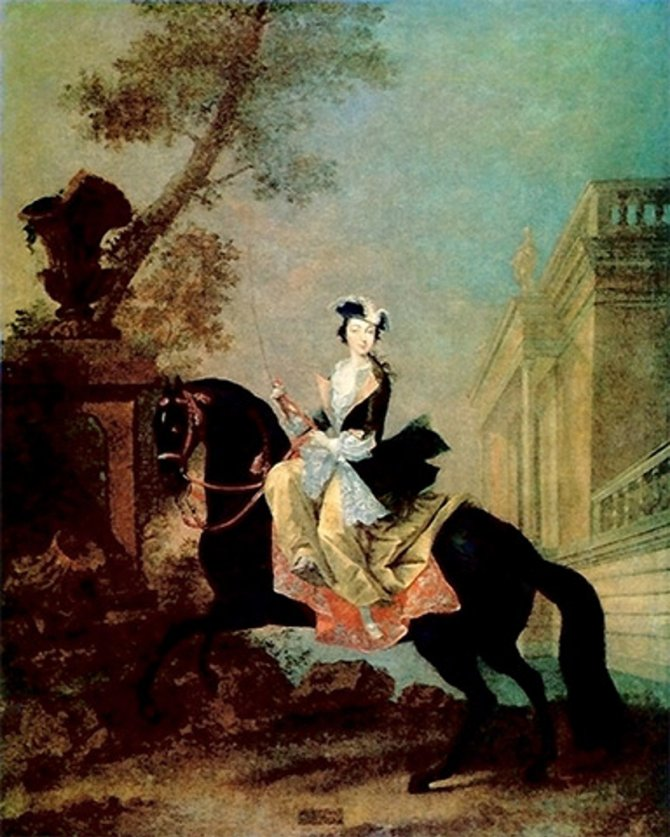 Katarina Velika na konju. Foto: Wikimedia Commons/Ghirlandajo