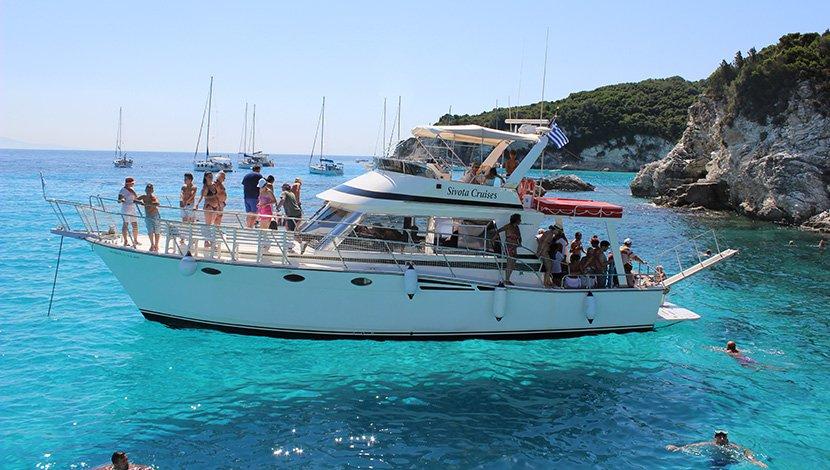 Grčka, more, plaža, krstarenje, brod