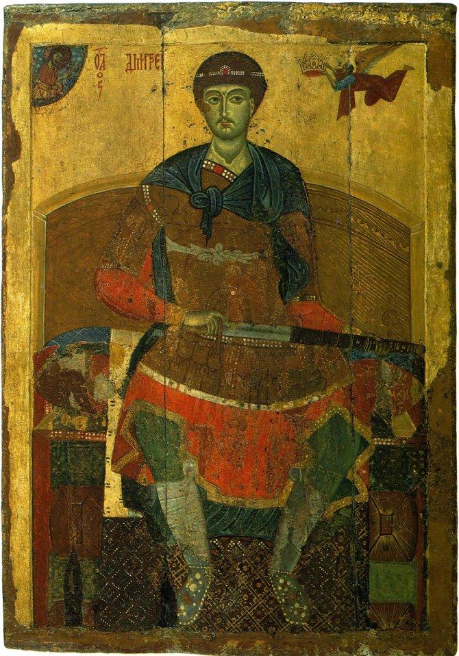 Sveti Dimitrije, ikona iz ranog 13. veka. Foto: Wikimedia Commons/Tretyakov Gallery