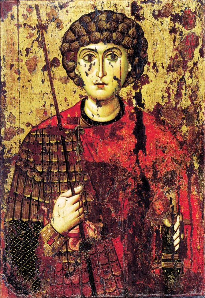Sveti Đorđe, ikona s kraja 11. ili početka 12. veka. Foto: Wikimedia Commons/expertmus.livejournal.com