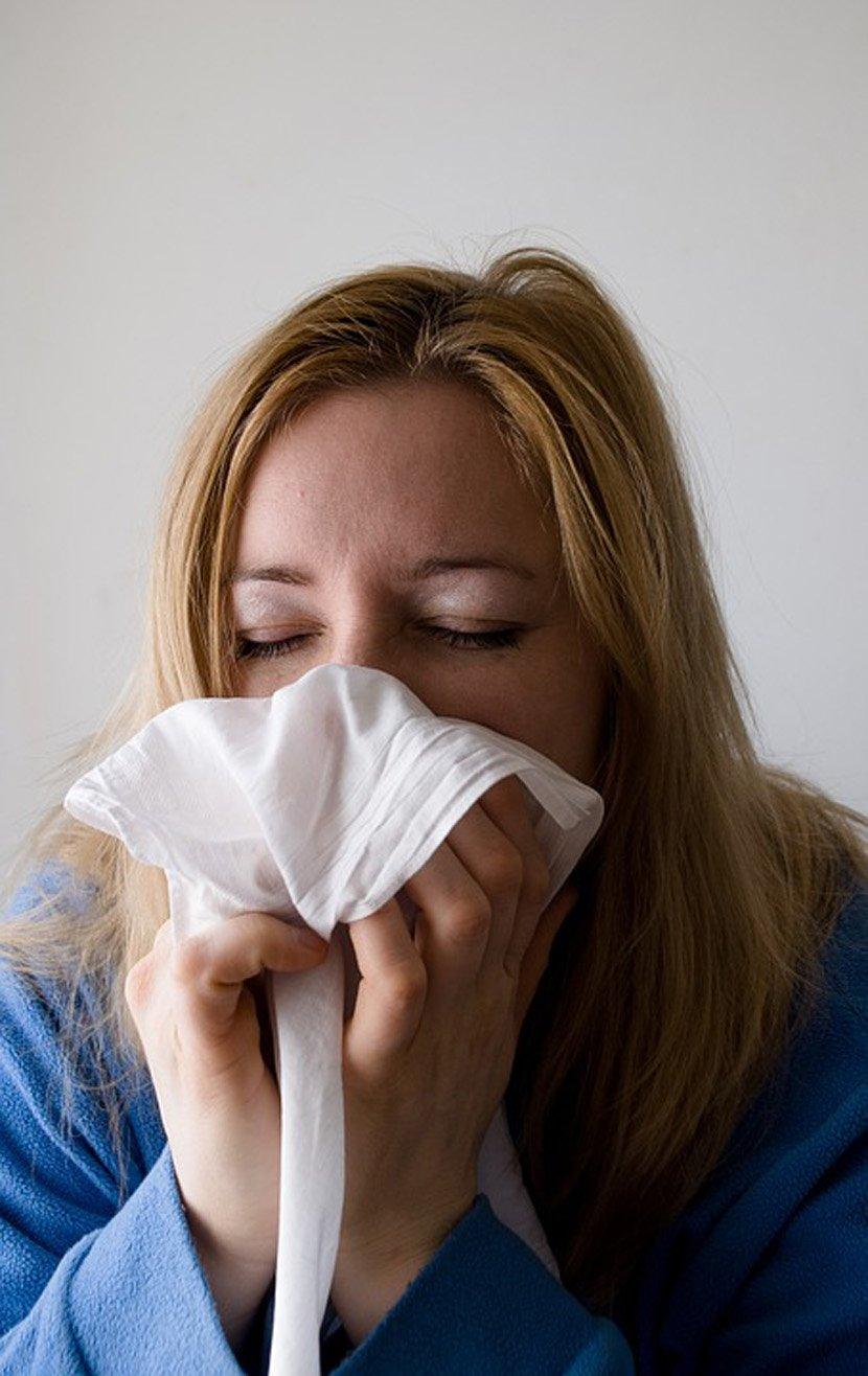 allergy, Ambrozija, kijanje, alergija, devojka, kijavica, prehlada