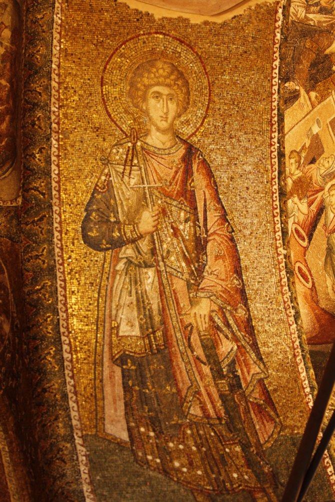 Sveti Đorđe na vizantijskom mozaiku u carigradskoj crkvi Hrista Spasitelja u Polju. Foto: © José Luiz Bernardes Ribeiro / CC BY-SA 3.0 / Wikimedia Commons