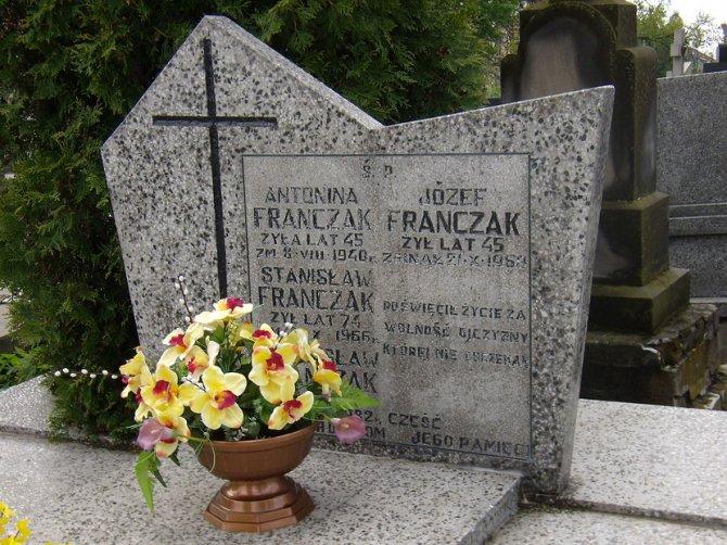 Grob Jozefa Frančaka, višedecenijskog antikomunističkog poljskog gerilca. Foto: Wikimedia Commons/Stefs