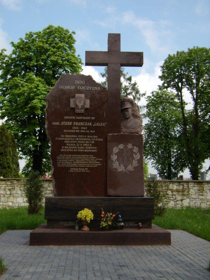 Spomenik Jozefz Frančaku, višedecenijskom antikomunističkom poljskom gerilcu, podignut u gradu Pjaski kod Lublina. Foto: Wikimedia Commons/Stefs