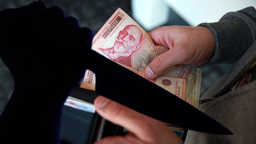 Nož, pare, dinari, novčanik