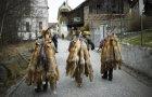 Tradicionalno tržište krzna zajednice lovaca u mestu Tusis, Švajcarska