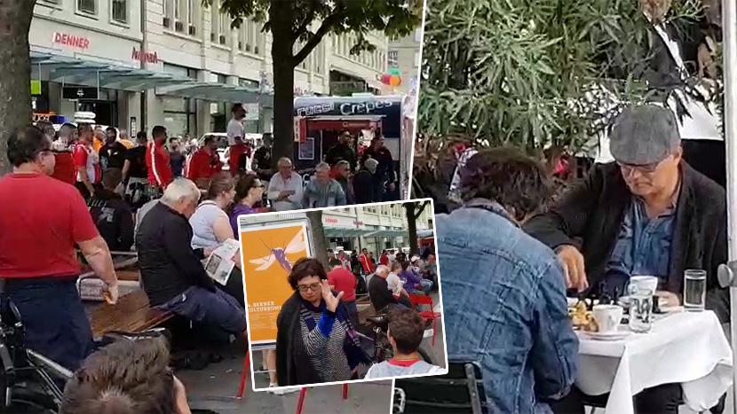 Delije grme u Bernu: Srbi napunili centar, lokalci na pesme odgovorili partijom šaha! (VIDEO)