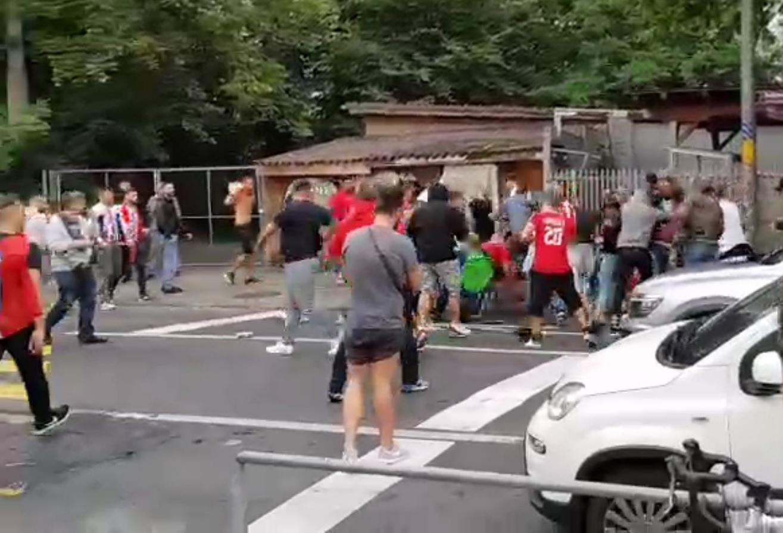 Brutalna tuča Delija i pucnjava, haos na ulicama Berna! (VIDEO)