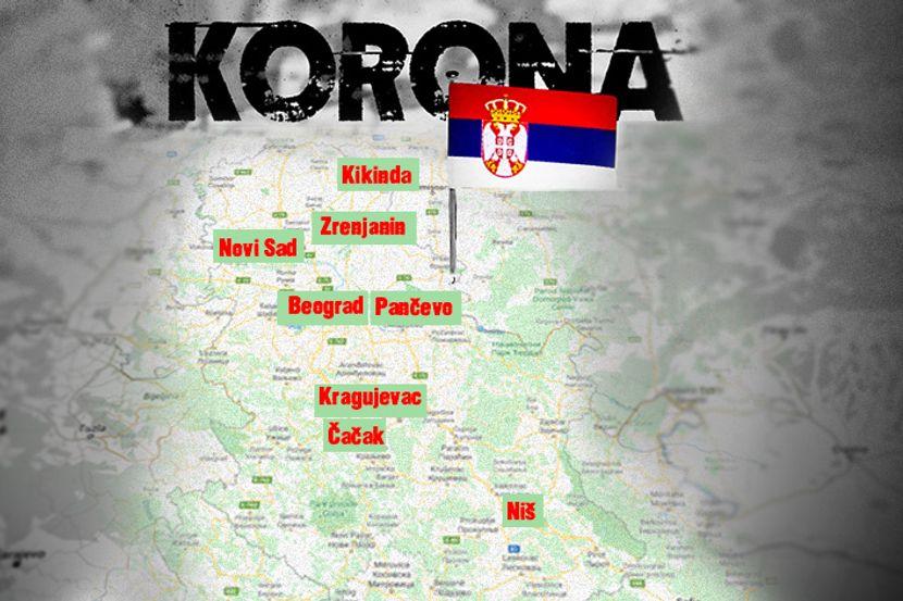 Mapa Srpskih Gradova U Kojim Su Oboleli Ko Se Ne Pridrzava