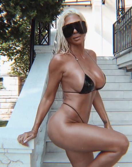 """Karleuša na +33 bezobrazno liže sladoled u bikiniju koji joj prekriva 0,5%  """"zabranjenog"""" - Telegraf.rs"""